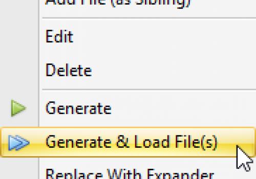 Generate & Load Files